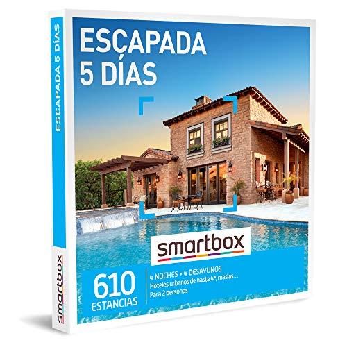 Smartbox - Caja Regalo Escapada 5 días - Idea de Regalo para Novios - 4 Noches con Desayuno para 2 Personas
