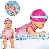 Muñeca de natación eléctrica, Con pilas muñeca linda Realmente Sesiones de natación de piscina Baño de agua Diversión, resistente al agua del baño del bebé de juguete regalo educativo para los niños
