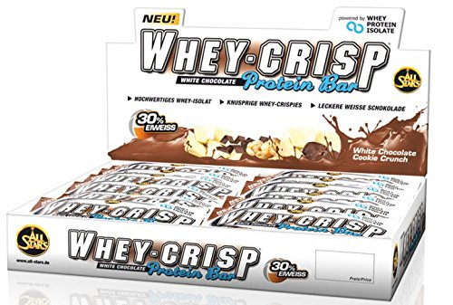 All Stars Whey-Crisp Protein Bar ( 30 x 50g ) Riegel Box Riegel BIG BOX, White Chocolate Cookie Crunch
