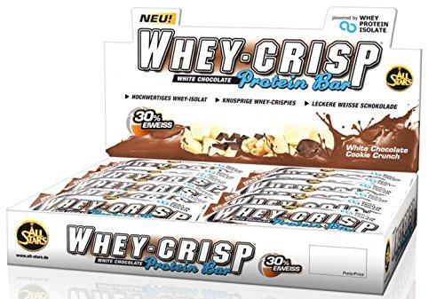 All Stars Whey-Crisp Protein Bar ( 30 x 50g ) Riegel Box Riegel BIG BOX, White Chocolate Cookie Crunch