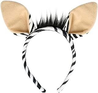 Zebra Ears Headband One Size