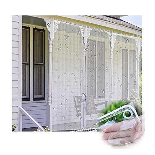 LIANGJUN Transparent presenning vattentät kraftig, PVC vattentät regntät presenning, utomhus vindtät gardin för växthus trädgård uteplats, tjock 0,5 mm, anpassad storlek (färg: Klar, storlek: 1 x 1,8 m)