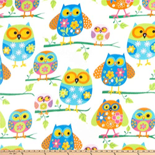 Fleece Owls Fabric By The Yard
