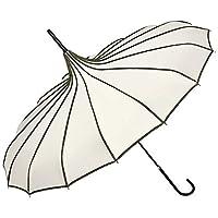 MODISCHES DESIGN: Durch seine besondere Form und klare Linienführung ist dieser Schirm das ideale Accessoire für Design-Fans. Die Pagodenform mit 16 Segmenten (ein normaler Schirm hat 8) und eine besonders elegant gearbeitete Schirmspitze machen dies...