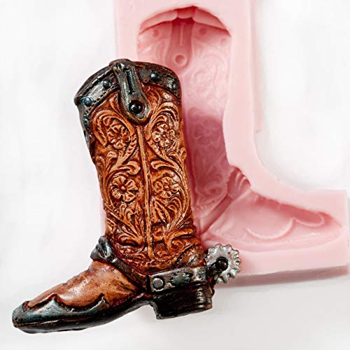 Cowboy Boot Silicone Mold Make Your Own Western Chocolate, Fondant, Candy, Soap, Resin, Clay, Wax, Flexible and Easy to Use