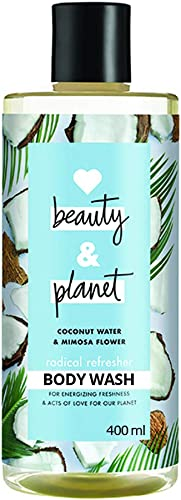 Love Beauty & Planet Radical Refresher Body Wash with Coconut Water and Mimosa Flower Aroma, 400 ml