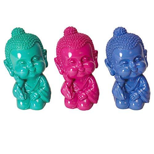 trendaffe Baby Buddha Spardosen im 3er Set - Baby-Buddha Sparbüchse Sparschwein