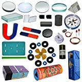 Student learn basic concepts of magnetism, electromagnetism, lens, mirrors, prism. Ideal for science fair model, science activity at home. Best Gift for 8-14 yr girls & boys, Useful for V to XII standards. Build, Play, Learn, STEM Concepts: Magnetism...