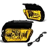 Pair Amber Lens Front Bumper Driving Fog Lights Lamps with Switch Replacement for Chevy Silverado 03-06 Avalanche 02-06