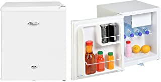 Super General 50 Liter Gross Volume Compact Mini-Refrigerator SGR-035-H, White Beverage-Fridge with Child Lock, Shelf, Fre...