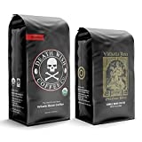 DEATH WISH Coffee The World's Strongest Coffee [1 lb] and VALHALLA JAVA Odinforce Blend [12 oz] Whole Bean Coffee Bundle/Bulk/Gift Set | USDA Certified Organic, Fair Trade | Arabica and Robusta Beans