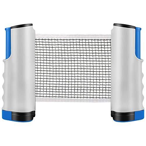 INTVN Rete da Ping Pong, Allungabile Portatile e Estraibile Reti da Ping-Pong, Replacement Ping Pong Retrattile Rack, Morsetti per Staffe