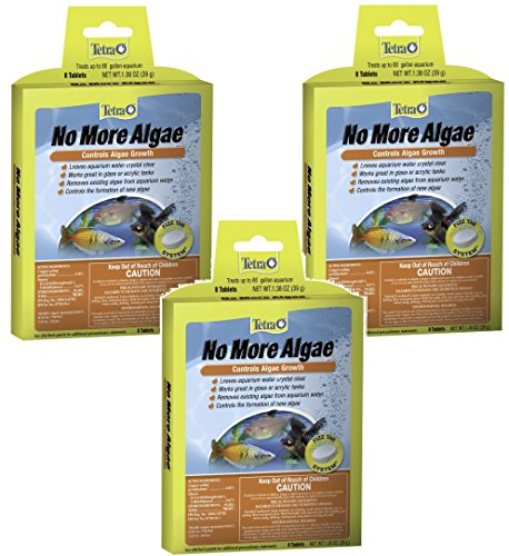 Tetra No More Algae Tablets - 24 Tablets Total (3 Packs with 8 Tablets per Pack)