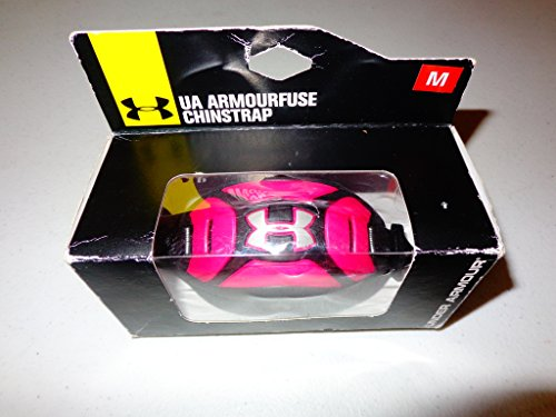 Under Armour Men's ArmourFuse Football Chinstrap, Pink/Black