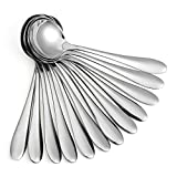 Eslite Large Soup Spoons/Stainless Steel Bouillion Spoons,12-Piece,7.7 Inches...