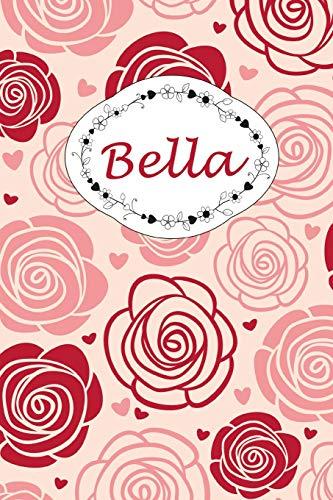 Bella: Personalisiertes Notizbuch / 150 Seiten / Punktraster / ca DIN A5 / Rosen-Design