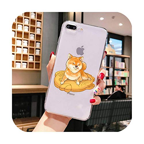 nine-C Cute cartoon Shiba Inu Phone Case For iPhone X XS MAX 6 6s 7 7plus 8 8Plus 5 5S SE 2020 XR 11 11pro max-a16-For iPhone 6 plus