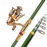 MIAO Caña de pescar, Super Carbono duro Sea Pole Set tiro largo Throw Pole Sea Thunder Bar Combinación de artes de pesca , 2.4m