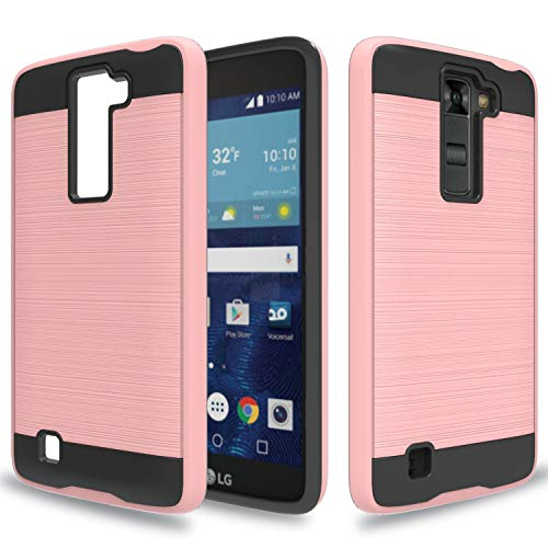 Wtiaw:LG K7 Case,LG Tribute 5 Case,LG Treasure LTE Case,LG K8 Case(2016),LG Escape 3 Case,LG Phoenix 2 Case,LG LS675 Case,LG MS330 Case,LG K373 Case,Brushed Metal Texture Case for LG K7-CL Rose Gold