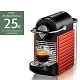 Nespresso Pixie XN3006 macchina per caffè espresso di Krups, colore Electric Red
