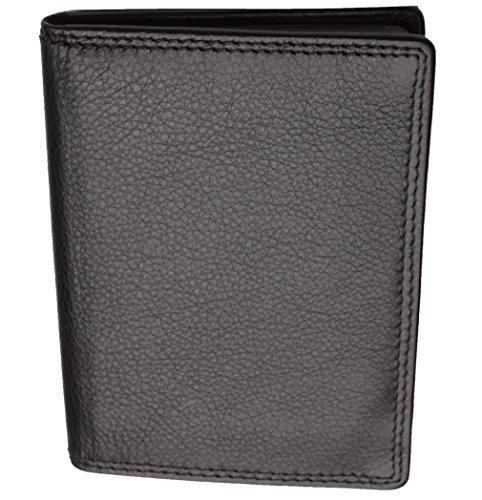 Josephine Osthoff Handtaschen-Manufaktur Leder Ausweisetui - Schwarz - RFID Doppelnaht Ausweismäppchen Brieftasche Kreditkartenmäppchen 950/10