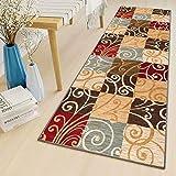 LYYK Alfombras Pasillo 70x400cm Antideslizante Lavables Antimanchas Antiestática alfombras de habitacion pequeñas para Sala de Estar Pasillo Cocina balcón, Color8