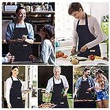 SCOBUTY Grillschürze,Küchenschürze,Verstellbare Kochschürze, Kochschürze für Männer und Frauen, wasserdichte Kochschürze mit Taschen, langlebig - lustige Schürze für das Kochen im Freien, Grillpartys - 7