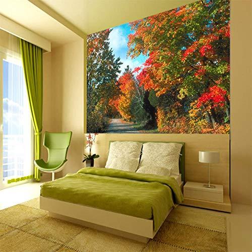 Mural behang muur Muralscustom behang 3D muurschildering op maat Medium-Size schilderij met bos bloem achter Tv bank bed als achtergrond in woonkamer 300 * 210cm