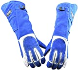 23.6IN Animal Handling Gloves- Best Scratch/Bite Resistant Protective Gloves, Feed Gloves for Dog,Cat Scratch,Bird Handling Falcon Gloves Grabbing,Reptile Squirrel Snake Bite,Long Welding Gloves