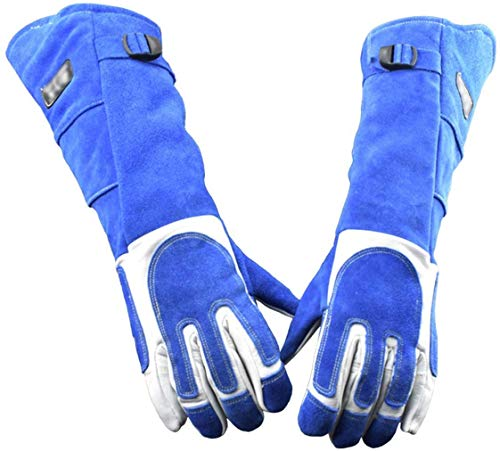 23.6IN Animal Handling Gloves- Best Scratch/Bite Resistant Protective Gloves, Feed Gloves for Dog,Cat Scratch,Bird Handling Falcon Gloves Grabbing,Reptile Squirrel Snake Bite,Long Welding Gloves