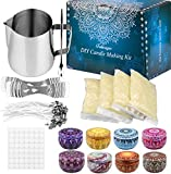 candle making kit supplies, beeswax diy candle craft tools including with 1 candle make pouring
