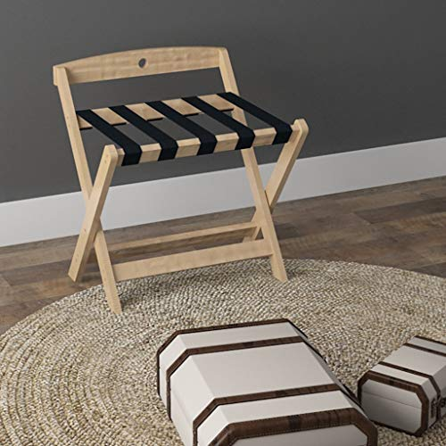 Read About Folding Luggage Rack Solid Wood Luggage Rack Portable Hotel Special use Folding Suitcase ...