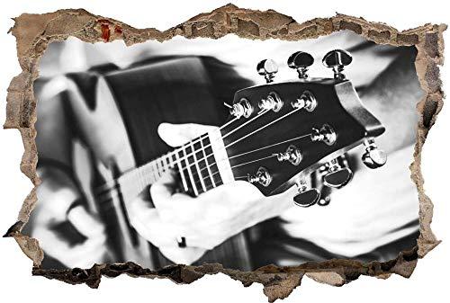 Etiqueta De La Pared 3D -Concierto de música de guitarra eléctrica en...