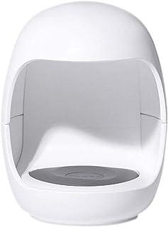 Mini Nail Art Pequeña Lámpara De Uñas Portátil con Forma De Huevo Lámpara De Uñas De Secado Rápido Pequeña Y Conveniente, Adecuada para Todos Los Esmaltes De Uñas,Blanco