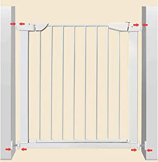 Baby playpen Extending Metal Safety Gate, Security Door, Fit Child and Pet Gate, Without Holes in The Wall - White - Height 74.5cm (Color : 201-208cm)