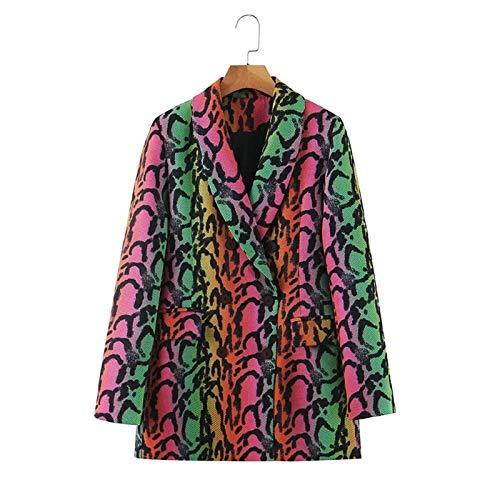 CGWL Frühling Herbst Blazer Frauen Casual Loose Slim Coat Damen Snake Print Tops...