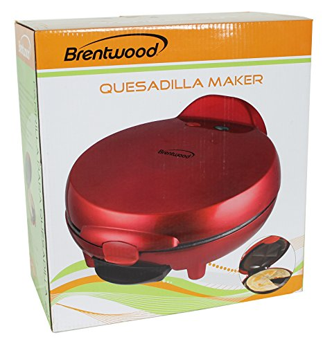Brentwood Quesadilla Maker, 8-inch, Red