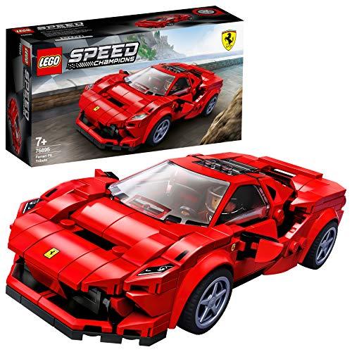 LEGO Speed Champions - Ferrari F8 Tributo, Set de Construcción de Coche de Carreras de Juguete, Incluye Minifigura del Conductor del Deportivo (76895)