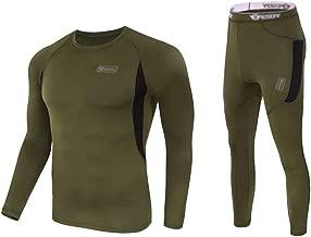 Vakker Thermal Underwear Set Top and Bottom, Long Johns Sweat Fleece, Quick Drying, Soft Warm