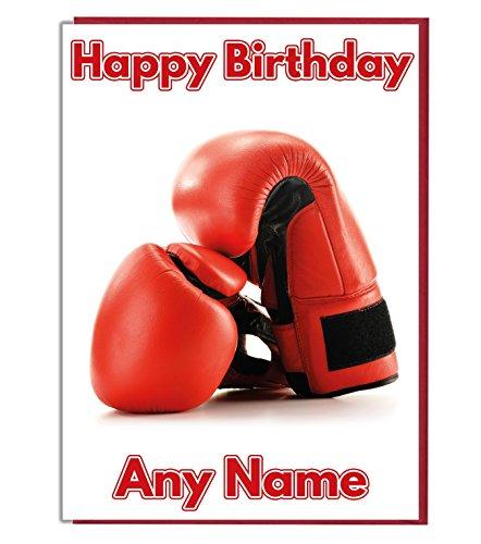 AK Giftshop Geburtstagskarte mit Boxhandschuh-Motiv, personalisierbar [evtl. nicht in deutscher Sprache]