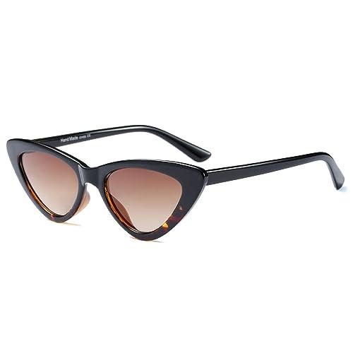 884e44b5d45 BOZEVON Women Triangle Sunglasses - UV400 Eyewear Retro Vintage Cat Eye  Sunglasses
