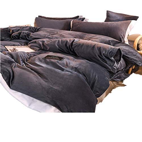 Funda nórdica, terciopelo de cristal de doble cara, juego de terciopelo para bebés, ropa de cama de terciopelo, tamaño: cama de 1,5 m-cama de 1,8 m