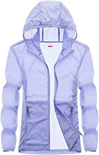 Women's Softshell Jacket, Couple Outdoor Sunscreen Coat Summer Breathable Windbreaker for Running Cycling Fishing and Travelling,Purple,4XL