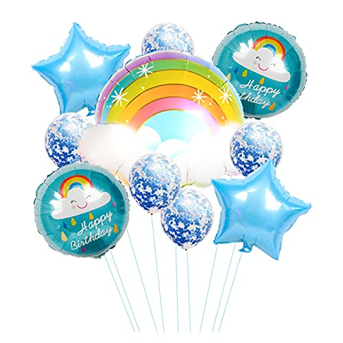 QIANGQSM Cute Rainbow Cloud Foil Balloons Cartoon Smile Cloud Balloons Wedding Birthday Decor Kids Baby Shower Party Supplies balloon (Color : Camouflage)