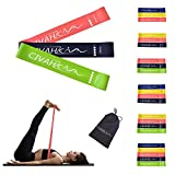 CIVAH Bandes élastiques en Latex Naturel Bande de résistance entraînement pour la thérapie Hysical Pilates Yoga Rehab Sport Fitness Ceinture Set of 3