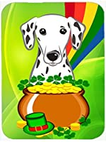 Caroline's Treasures Dalmatian St. Patrick's Day Mouse Pad Hot Pad or Trivet Multicolor (BB1954MP) [並行輸入品]