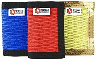 Recycled Firefighter The Fire Hose Rookie Front Pocket Bifold Wallet - Front Pocket Bifold Wallet, Red/Black