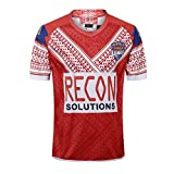 CRBsports Team Tonga, Maillot De Rugby, Home Edition, Nouveau Tissu Brodé, Swag Sportswear (Rouge, XL)