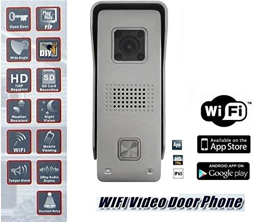 Monacor Video Gegensprechanlage HD Kamera Türklingel Wlan,Lan via Smartphone