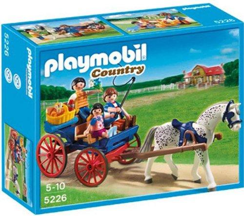 PLAYMOBIL 5226 - Carruaje con Caballo + 5229 - Entrenamiento de saltos